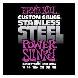 Струны - Ernie Ball 2245 набор струн для 6-струнной электрогитары, размер 11-48, 0