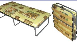 Раскладушки -  Раскладушка - кровать на ламелях  с матрасом ., 0