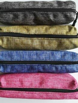 Косметички и бьюти-кейсы - Пенал-косметичка текстиль Джинс 24314-2 4…, 0