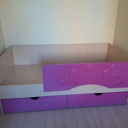 Кроватки - Кровать детская с бортиком Алиса 1.8, 0