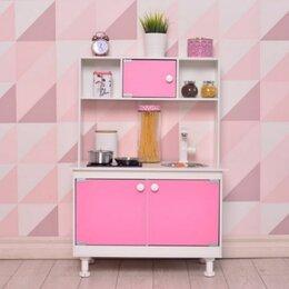 Игрушечная мебель и бытовая техника - Детская деревянная кухня Кукольный домик, 0
