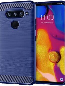 Чехлы - Чехол для LG V40 ThinQ цвет Blue (синий), серия…, 0