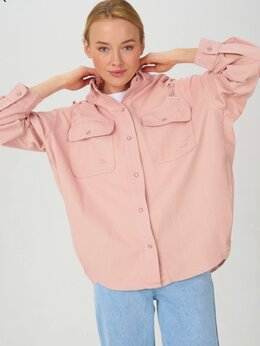 Куртки - Джинсовая куртка-рубашка Новая , 0