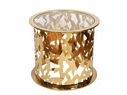 Столы и столики - Кофейный столик круглый со стеклянной…, 0