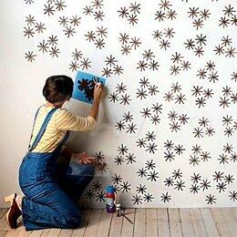 Инструменты для нанесения строительных смесей - Трафарет под покраску стен, 0
