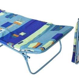 Кровати - Раскладушка детская с толстым матрасом , 0