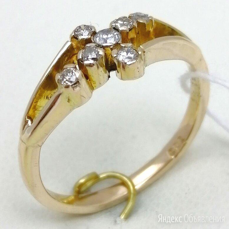 кольцо / размер 16,5 / 1,99г / золото 375 / бриллианты по цене 19990₽ - Кольца и перстни, фото 0