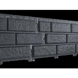 Сайдинг - Фасадные панели Стоун Хаус Кирпич графитовый, 0