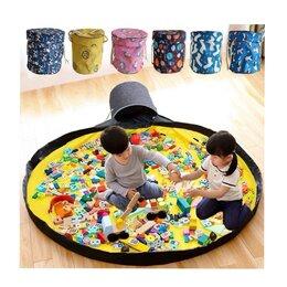 Хранение игрушек - Новая корзина-коврик для игрушек, Lego (серая с жёлтым)., 0