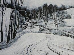 Картины, постеры, гобелены, панно - Рисунок Зимний вид Крылатских холмов, 0