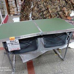 Походная мебель - мебель для туризма-стол складной размер 500/1020 мм с полкой, 0