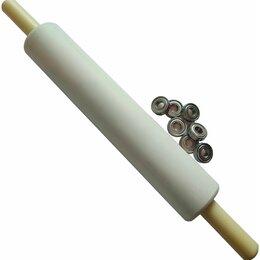 Скалки - Скалка для теста пластиковая тяжёлая 50-9см с подшипниками., 0