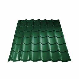 Кровля и водосток - Металлочерепиц Монтерей Зеленый мох 2,55*1,18 м СЛК 3D кромка, 0