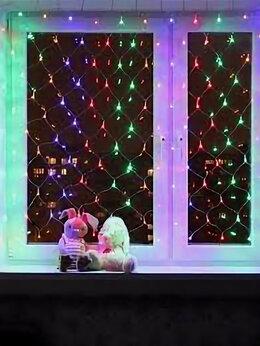 Новогодний декор и аксессуары - Гирлянда сетка цветная (3м*2м), 0