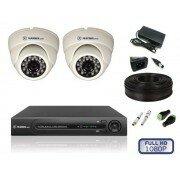 Камеры видеонаблюдения - Кoмплект видеонаблюдения для пoмещений на 2 камеры, 0