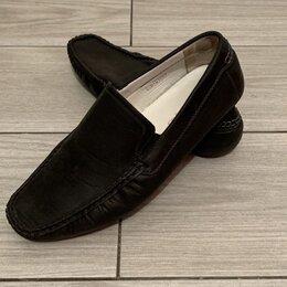 Мокасины - Мокасины мужские чёрного цвета туфли, 0
