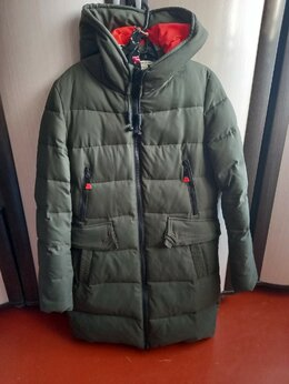 Куртки - Куртка женская зимняя удлиненная р.48-50 (пуховик), 0
