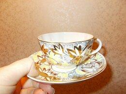 Кружки, блюдца и пары - чайная пара золотые ромашки ЛФЗ, 0