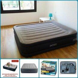 Походная мебель - Надувные кровати матрасы Intex двуспальные Softeam, 0