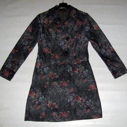 Платья - Джинсовое платье серое с принтом на р.44, 0