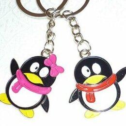 """Брелоки и ключницы - Брелок набор 2 штуки """"Пингвины"""", 0"""