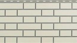 Фасадные панели - Панель Кирпич Клинкерный, Белый, 1220х440мм, 0