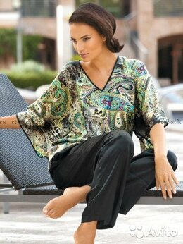 Домашняя одежда - Комплект Италия ( БЛУЗА + БРЮКИ), 0