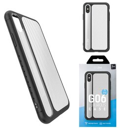 Чехлы - Чехол Apple iPhone X/Xs DOTFES G06 пластик серебро, 0