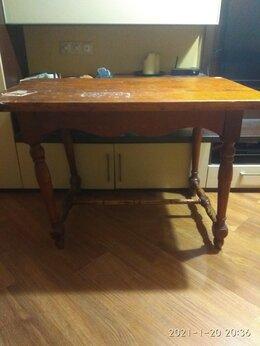 Столы и столики - Стол, натур. дерево, ручная работа (дача, баня), 0