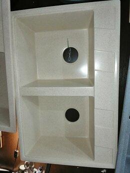 Кухонные мойки - Мойка кухонная каменная двойная 76х50 см, 0