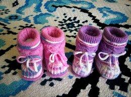 Обувь для малышей - Теплые пинетки сапожки. Ручная работа, 0