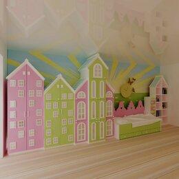 Кроватки - Детская кровать, кроватка дом, шкафы домиком. Шкаф стеллаж Д-1 в Чебоксарах, 0