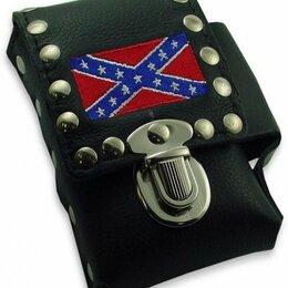 Другое - Сигаретный чехол Rebel Confederate Flag Biker Style, 0