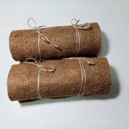 Прочие товары для животных - Комплект Дабл Кокосовый мат 25 см на 100 см (2шт) для улиток Ахатина, 0