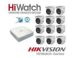 Камеры видеонаблюдения - Комплект HiWatch на 11камер 2Mxp с микрофоном, 0