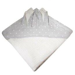 Полотенца - Пелёнка-уголок из муслина Bambola Зайки 85*85 см белый, 0