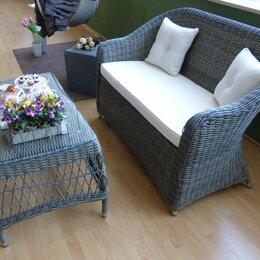 Плетеная мебель - Комплект плетеной мебели Seven Oaks (диван и столик), 0