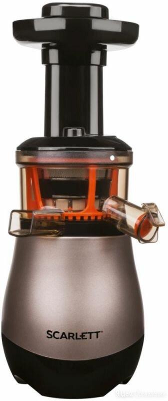 Соковыжималка центробежная Scarlett SC-JE50S43 коричневый по цене 6497₽ - Соковыжималки и соковарки, фото 0