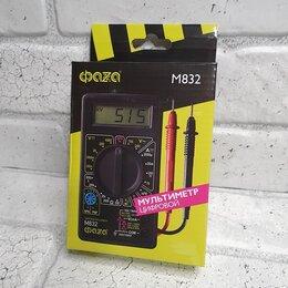 Измерительные инструменты и приборы - Мультиметр + про звонка  Фаза-M832, 0