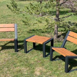 Комплекты садовой мебели - Комплект садово-парковой мебели «Street Cafe Stone» 740 из термососны, 0