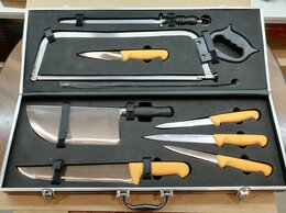 Наборы ножей - Набор разделочных ножей в кейсе Au nain Франция, 0