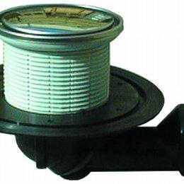 Витрины - HL80.1 Трап с круглой решеткой 123х123мм, 0