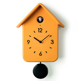 Часы настенные - Часы с кукушкой qq жёлтые, 0