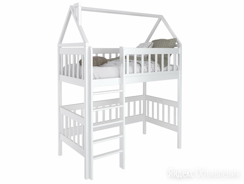 Кроватка домик чердак из массива Benua по цене 23500₽ - Кроватки, фото 0