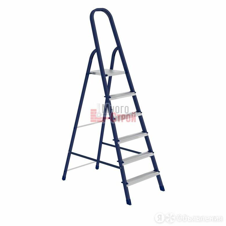 Стремянка, 6 ступеней, стальная//Россия по цене 3283₽ - Лестницы и стремянки, фото 0