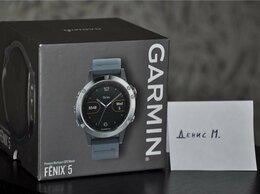 Умные часы и браслеты - Garmin Fenix 5 Silver / Blue (новые, открыты), 0