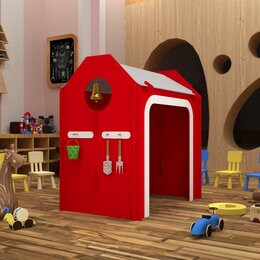 """Развивающие игрушки - Детский домик """"Пожарное депо"""", 0"""