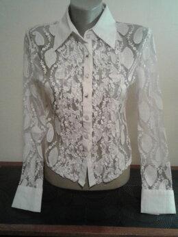 Блузки и кофточки - Ажурная блуза-рубашка, 0