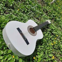 Акустические и классические гитары - Гитара белая для обучения, 0