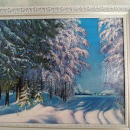 Картины, постеры, гобелены, панно - Зима, 0